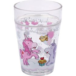 015-300468 Glitzerbecher Einhorn Glitzerg